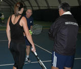 Jelena Jankovic training at Nick Bollettieri Tennis Academy