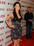 Audrina Patridge shows cleavage at 3rd Annual Nylon Magazine MySpace Collaborative Issue Party